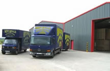 Collection trucks & storage warehouse